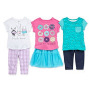 Okie Dokie® Graphic Tee, Leggings Or Tutu Skirt - Toddler Girls 2t-5t