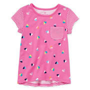 Okie Dokie® Short-Sleeve Printed Tee - Toddler Girls 2t-5t