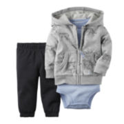 Carter's® 3-pc. Hooded Cardigan Set - Baby Boys newborn-24m
