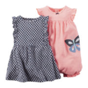 Carter's® 2-pc. Sleeveless Dress & Romper Set - Baby Girls newborn-24m