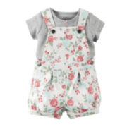 Carter's® Floral Shortalls and Top Set - Baby Girls newborn-24m