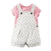 Carter's® Shortalls and Top Set - Baby Girls newborn-24m