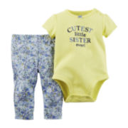Carter's® Short-Sleeve Bodysuit and Pants Set - Baby Girls newborn-24m