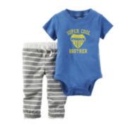 Carter's® Short-Sleeve Bodysuit and Pants Set - Baby Boys newborn-24m
