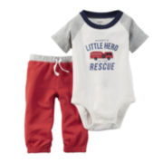 Carter's® Short-Sleeve Fire Truck Bodysuit and Pants Set - Baby Boys newborn-24m