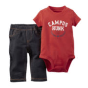 Carter's® Short-Sleeve Bodysuit and Pants Set - Baby Boys newborn-24