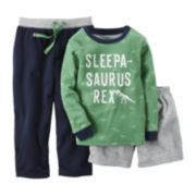 Carter's® Long-Sleeve 3-pc. Dinosaur Pajama Set - Baby Boys 12m-24m