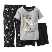 Carter's® Short-Sleeve 3-pc. Space Pajama Set - Toddler Boys 2t-5t