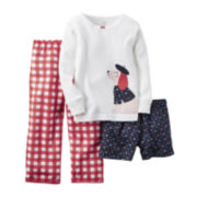Carter's® Long-Sleeve 3-pc. Dog Graphics Pajama Set - Toddler Girls 2t-5t