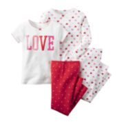 Carter's® 4-pc. Pajama Set - Baby Girls 6m-24m