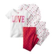 Carter's® 4-pc. Pajama Set - Toddler Girls 2t-5t