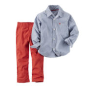 Carter's® 2-pc. Long-Sleeve Shirt and Pants Set - Baby Boys newborn-24m