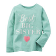 Carter's® Long-Sleeve Big Sister Shirt - Preschool Girls 4-6x