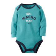 Carter's® Long-Sleeve Slogan Bodysuit - Baby Boys newborn-24m