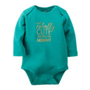 Carter's® Long-Sleeve Slogan Bodysuit - Baby Girls newborn-24m