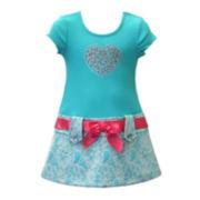 Lilt Short-Sleeve Lace Marsha Dress - Preschool Girls 4-6x