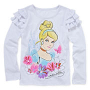 Disney Apparel by Okie Dokie® Cinderella Ruffle Tee - Toddler Girls 2t-5t