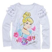 Disney Apparel by Okie Dokie® Cinderella Ruffle Tee - Toddler Girls 2t-5t