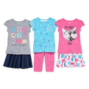 Okie Dokie® Tee, Skater Skirt Or Leggings - Preschool Girls 4-6x