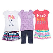 Okie Dokie® Tee, Skort Or Leggings - Preschool Girls 4-6x