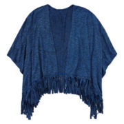 Arizona Fringed Poncho - Girls 7-16 and Plus