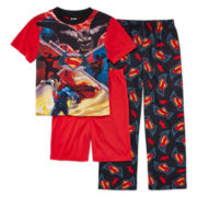 3-Pc. Batman vs. Superman Pajama Set - Boys 4-12