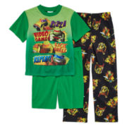 3-Pc. Teenage Mutant Ninja Turtles Pajama Set - Boys 4-10