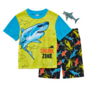 2-Pc. Shark Zone Pajama Set with Toy - Boys 4-12