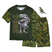 2-Pc. T-Rex Pajama Set with Toy - Boys 4-12