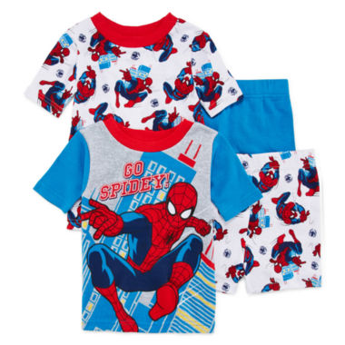 jcpenney.com | 4-Pc. Spiderman Pajama Set - Toddler Boys 2T-4T