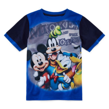 jcpenney.com | Disney Apparel by Okie Dokie® Short-Sleeve Mickey Mouse Tee - Preschool Boys 4-7