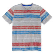 Arizona Striped V-Neck Tee - Boys 8-20