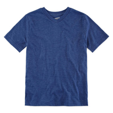 jcpenney.com | Arizona Short-Sleeve Solid V-Neck Tee - Boys 8-20 and Husky