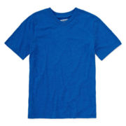 Arizona Short-Sleeve Solid V-Neck Tee - Boys 8-20 and Husky