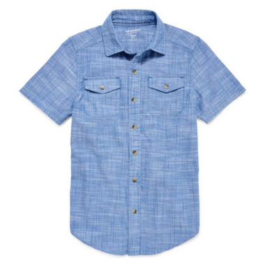 jcpenney.com | Arizona Button-Down Utility Shirt - Boys 8-20 and Husky