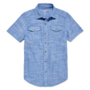 Arizona Button-Down Utility Shirt - Boys 8-20 and Husky