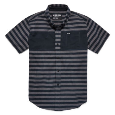 jcpenney.com | Zoo York® Short-Sleeve Striped Button-Front Shirt - Boys 8-20