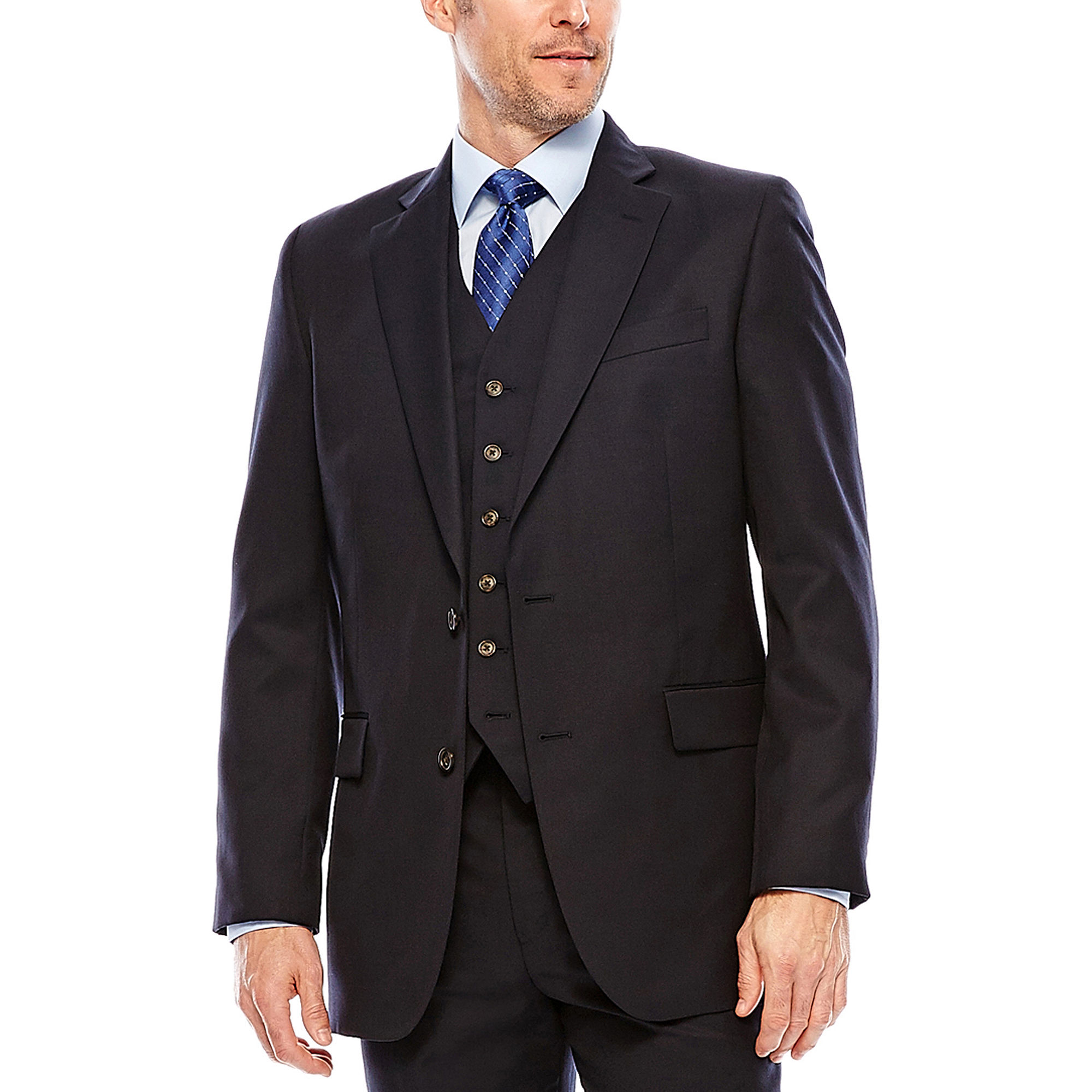 Stafford Travel Suit Jacket - Classic plus size,  plus size fashion plus size appare