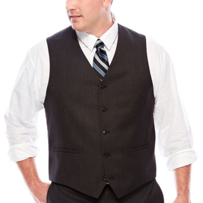 JF J.Ferrar® Black Nailhead Suit Vest - Big & Tall