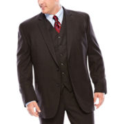 Stafford® Travel Charcoal Suit Pants - Portly​