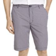 IZOD® Mini-Plaid Poplin Shorts