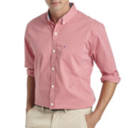 IZOD® Long-Sleeve Stretch Gingham Sport Shirt