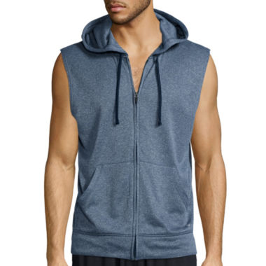 jcpenney.com | Xersion™ Sleeveless Training Fleece Full-Zip Shirt