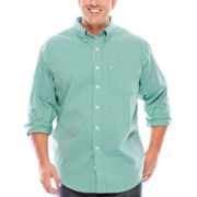 IZOD® Stretch Poplin Long-Sleeve Button-Front Shirt - Big & Tall