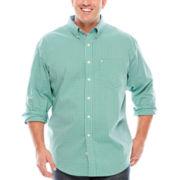 IZOD® Stretch Poplin Long-Sleeve Button-Front Shirt - Big & Tall