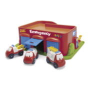 Fire Hall Toy Set