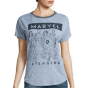 Short-Sleeve Marvel Avengers Burnout T-Shirt