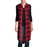 Arizona Sleeveless Plaid Duster