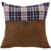 HiEnd Accents South Haven Blue Plaid Envelope Decorative Pillow