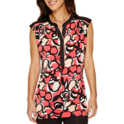 Worthington® Piped Y-Neck Sleeveless Tunic - Tall